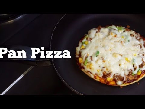 Homemade Pizza without oven| Pizza on Tawa| Dominos style Chicken Pan Pizza