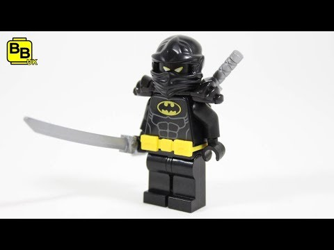 LEGO BATMAN MOVIE NINJA BAT MINIFIGURE CREATION