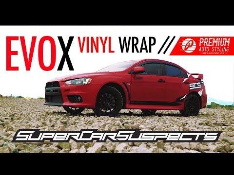 THE SUPERCAR SUSPECTS EVO X! (VINYL WRAP REVEAL)
