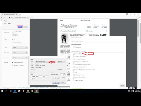 How to Convert Webpage as a PDF file from any Browser