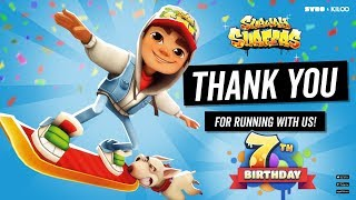 Subway Surfers 7th Anniversary - Thank YOU for 7 Years of Running, Jumping, Dodging and Gaming!!