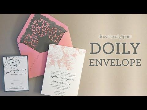 DIY Doily Envelope Liner VIDEO