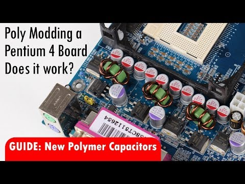 Polymer Capacitors replacement for old Pentium 4 Motherboard