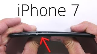 iPhone 7 Scratch test - BEND TEST - Durability video!