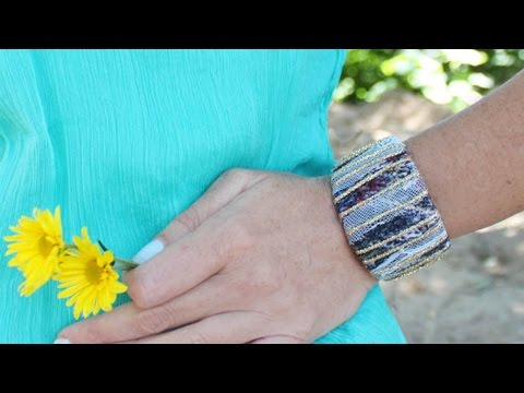 Make a Pretty Layered Fabric Cuff - DIY Style - Guidecentral