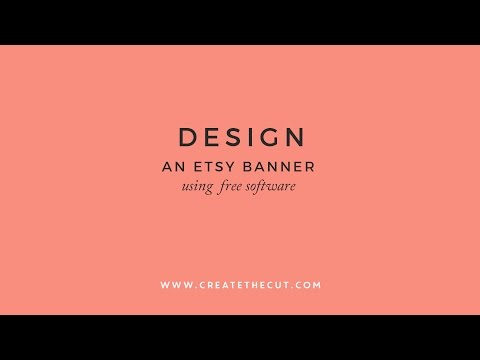 How to design an Etsy Banner / Cover Photo