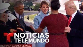 Donald Trump y su familia se dirigen a la Casa Blanca | Noticiero | Noticias Telemundo