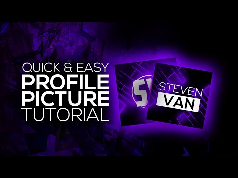 How to Make A Profile Picture for YouTube! Photoshop Avatar Tutorial! (2016)