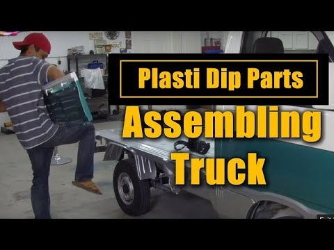 Plasti Dip Parts & Assembling Truck From FRESH Custom Paint Job