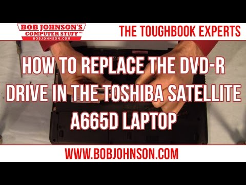 How to replace the DVD-R drive in the Toshiba Satellite A665D Laptop