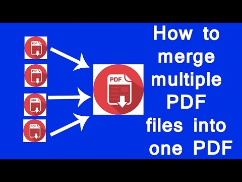 How to merge multiple PDF files into one PDF