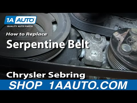 How To Install Replace Engine AC Alternator Serpentine Belt 2.7L Chrysler Sebring