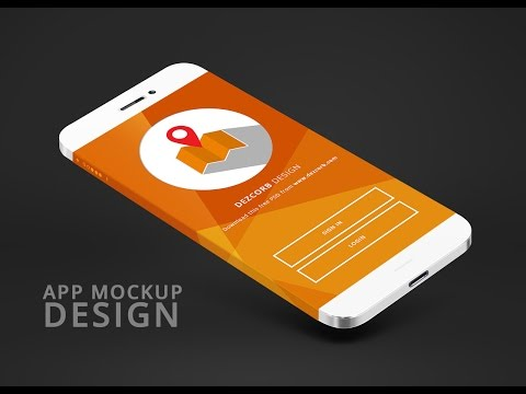 How to design App mockup in photoshop CC  App mokcup tutorial #2   Photoshop Tutorial
