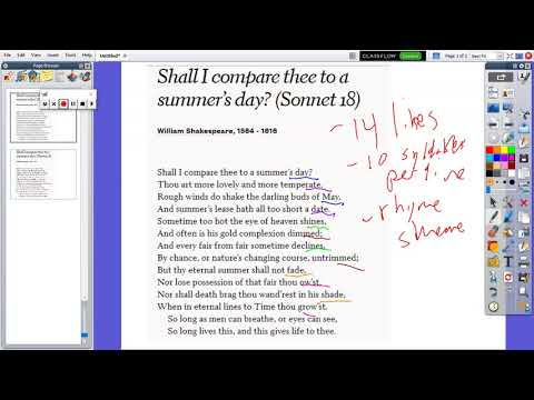 t9bailey teaches poetry  How to Identify a Shakespearean Sonnet