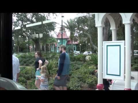 Disney Transport Bus Ride - Caribbean Beach Resort to Disney Springs