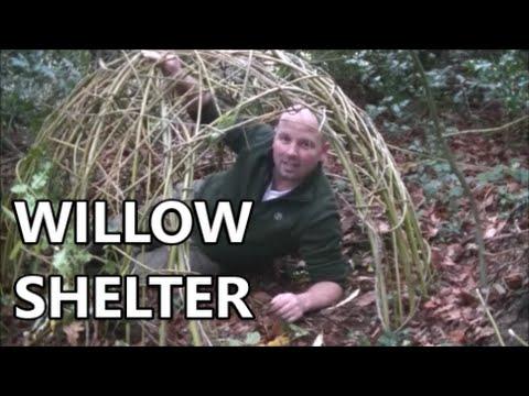 Willow shelter- Bushcraft and survival by Pondguru