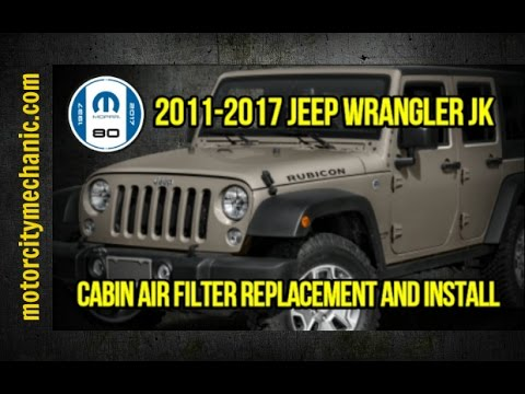 2011-2017 Jeep Wrangler JK cabin air filter replacement and install