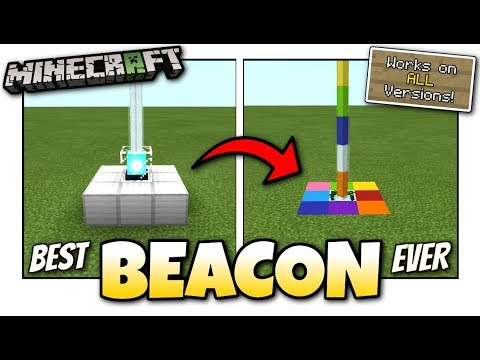 Minecraft - BEST RAINBOW BEACON [ Tutorial ] Works on ALL Versions !