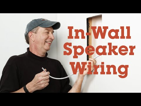 How to run wires for in-wall speakers | Crutchfield video