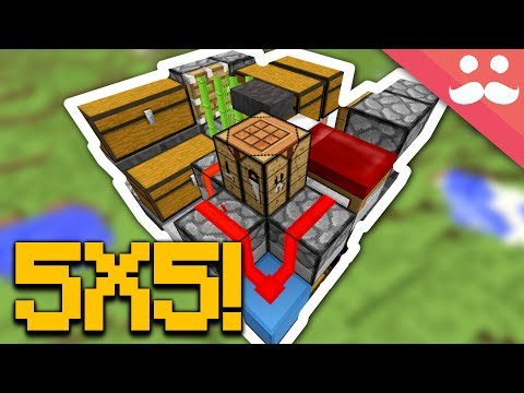 Making the SMALLEST REDSTONE BASE!