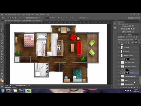 Adobe Photoshop CS6 - Rendering a Floor Plan - Part 1 - Introduction - Brooke Godfrey