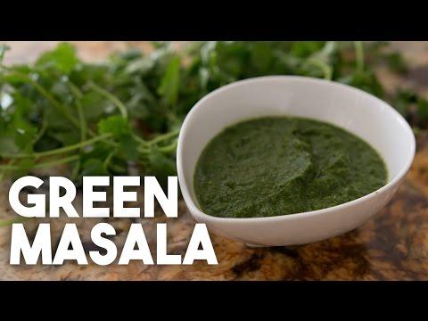 Simple GREEN MASALA - Coriander, Green Chillies, Lemon, spices