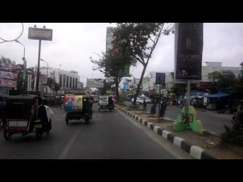 Medan Indonesia, driving down the road