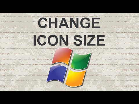 Change icon size Windows 7 EASY