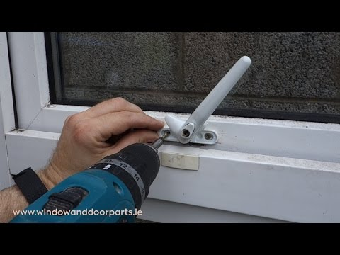 How to replace a cockspur window handle on a uPVC window