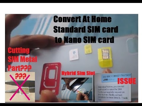 How to Convert Standard SIMCARD to NANO SIM CARD to use in your 4G HYBRID SIM SLOT by cutting SIM