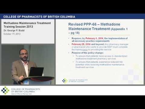 Online Methadone Maintenance Treatment Training Session Part 1