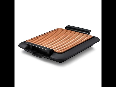 Review: Gotham Steel 1619 Smokeless Electric Grill, Large, Brown and Griddle, Portable
