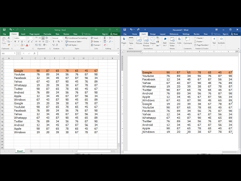 How to Insert & Link Entire MS Excel Sheet Into Word (Easy)