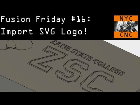 How to Import SVG Logo, Scale & Move in Fusion 360! Fusion Friday #16