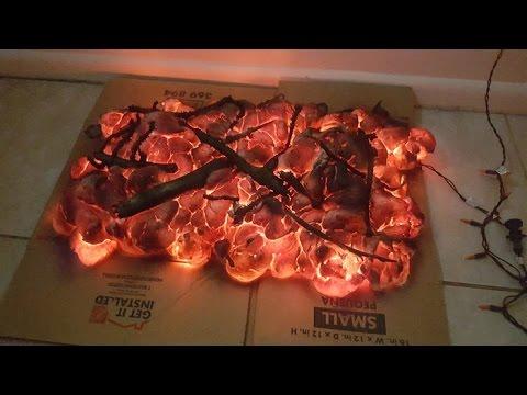 DIY Halloween fire prop