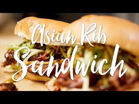 Asian Style Ribs Sandwich