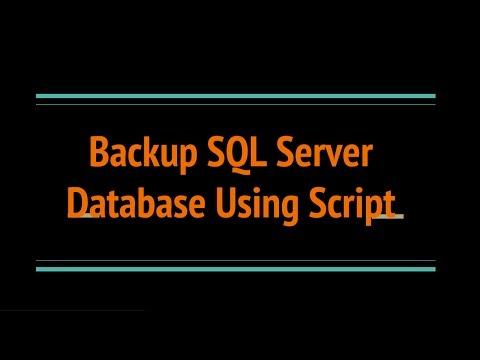 Create SQL SERVER Database Backup using Script