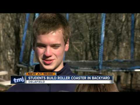 Wisconsin teens build their own backyard roller coaster