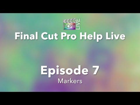 Final Cut Pro Help Live: Markers