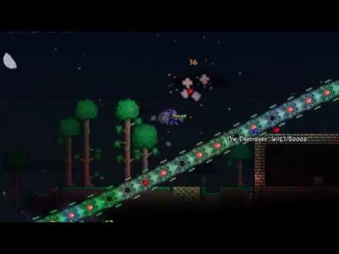 Terraria - The Destroyer solo with Laser Rifle