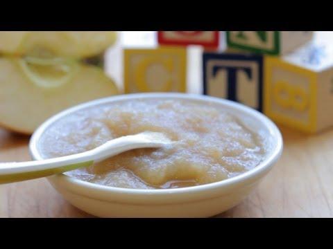 Baby Applesauce - baby food recipe +4M