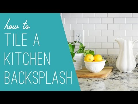 Tiling A Subway Tile Backsplash