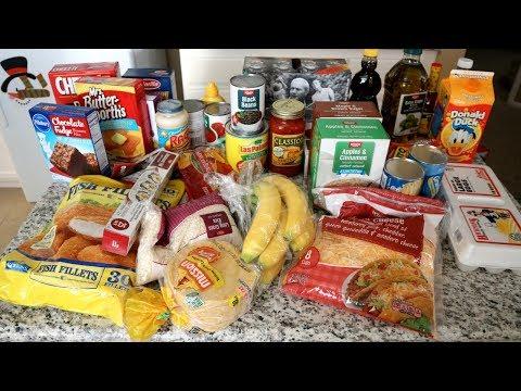 Non perishables grocery haul + Christmas tree!