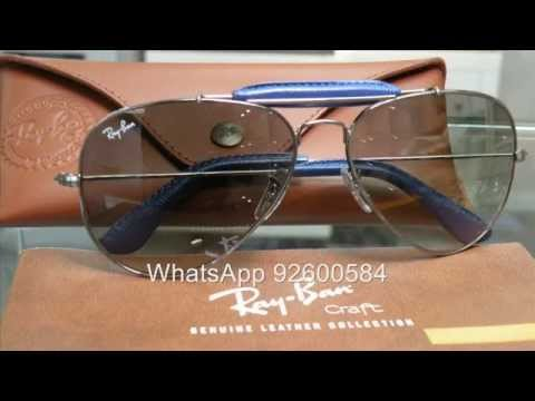 47bce233663 france ray ban craft outdoorsman aviator rb3422q blue leather ed9f3 4da33