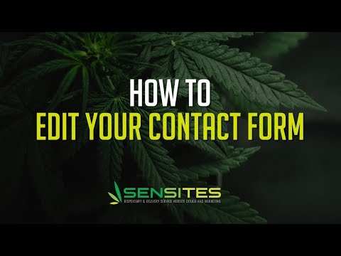 How to Edit the Contact Form on Your Dispensary Website Theme - Sensites