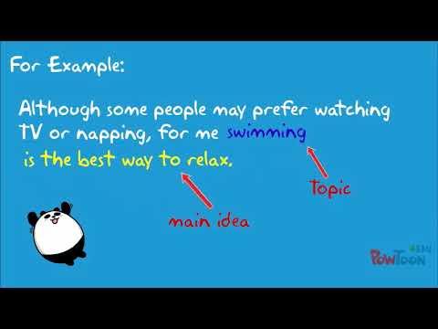 writing paragraphs: Topic Sentences
