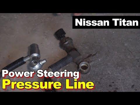 Nissan Titan or Armada Leaking Power Steering Pressure Hose & Sensor