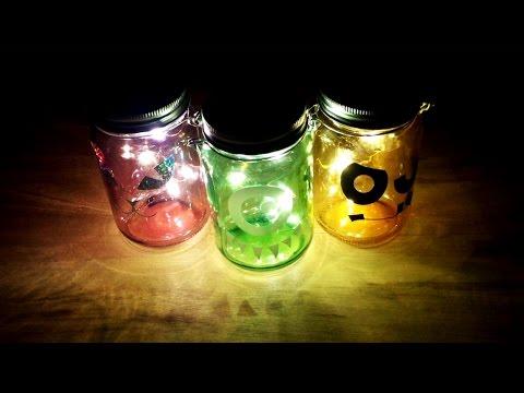 Firefly Mason Jar Halloween Luminaries