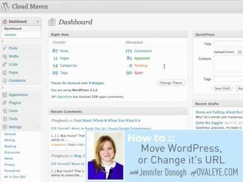How to Move WordPress or Change it's URL