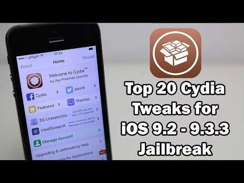 Top 20 Cydia Tweaks for iOS 9.3.3 / 9.3.2 / 9.3.1 Jailbreak